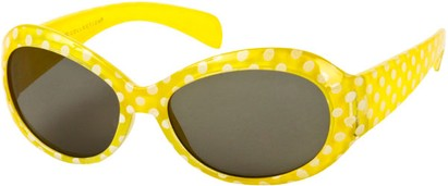 Angle of SW Kid's Polka Dot Style #9111 in Yellow Frame, Women's and Men's