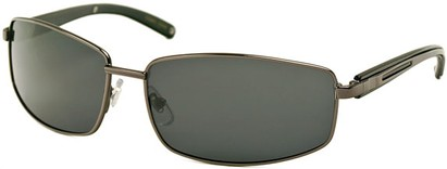 Angle of Rover #249 in Glossy Grey Frame with Grey Lenses, Men's Square Sunglasses