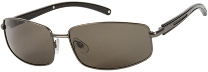 Angle of Rover #249 in Matte Grey Frame with Grey Lenses, Men's Square Sunglasses