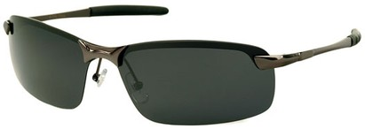 Angle of Rapid #2075 in Glossy Grey Frame with Smoke Lenses, Women's and Men's Square Sunglasses