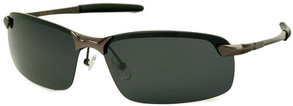 Angle of Rapid #2075 in Matte Grey Frame with Smoke Lenses, Women's and Men's Square Sunglasses