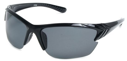 Angle of Alpine #59 in Black with Smoke, Men's Sport & Wrap-Around Sunglasses
