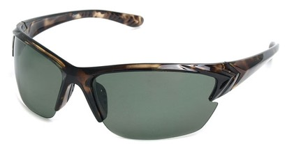 Angle of Alpine #59 in Tortoise with Green, Men's Sport & Wrap-Around Sunglasses
