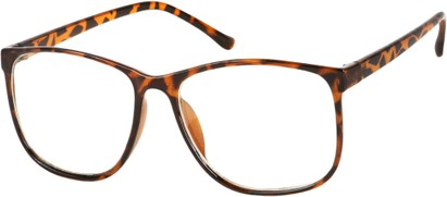 Angle of SW Nerd Style #1430 in Tortoise Frame with Clear Lenses, Women's and Men's Retro Square Sunglasses