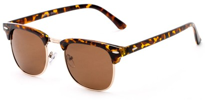 Angle of Holden #9329 in Tortoise Frame with Amber Lenses, Women's and Men's Browline Sunglasses