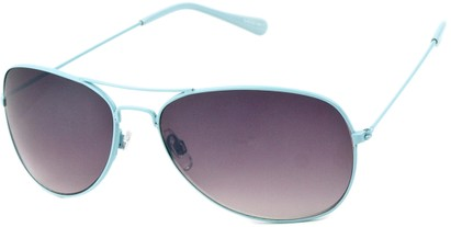 Angle of Chasma #71010 in Light Blue Frame, Women's and Men's Aviator Sunglasses