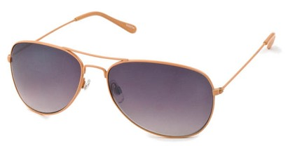 Angle of Chasma #71010 in Orange Frame, Women's and Men's Aviator Sunglasses