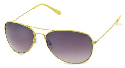Angle of Chasma #71010 in Yellow Frame, Women's and Men's Aviator Sunglasses