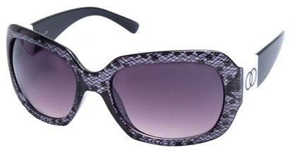 Angle of SW Lace Style #9898 in Purple and Black Frame, Women's and Men's