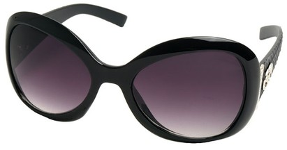 Angle of SW Oversized Style #9432 in Black Frame, Women's and Men's