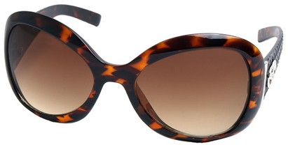 Angle of SW Oversized Style #9432 in Tortoise Frame, Women's and Men's