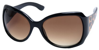 Angle of SW Animal Print Style #1432 in Leopard Print Frame with Amber Lenses, Women's and Men's