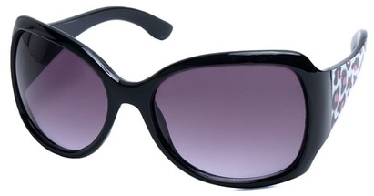 Angle of SW Animal Print Style #1432 in Black Cheetah Print Frame, Women's and Men's