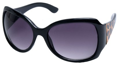 Angle of SW Animal Print Style #1432 in Leopard Print Frame with Smoke Lenses, Women's and Men's