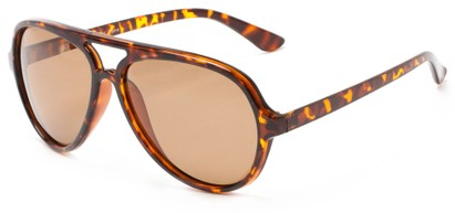Angle of Sheldon #9524 in Tortoise Frame with Amber Lenses, Men's Aviator Sunglasses