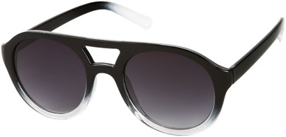 Angle of SW Celebrity Aviator Style #160 in Glossy Black Fade Frame with Grey Lenses, Women's and Men's