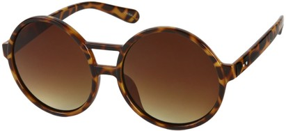 Angle of SW Round Celebrity Style #179 in Brown Tortoise Frame with Amber Lenses, Women's and Men's