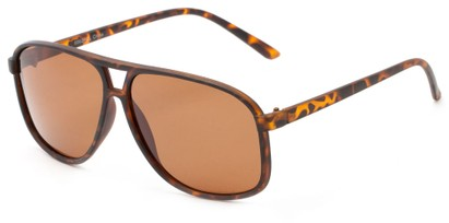 Angle of Fraser #9562 in Matte Tortoise Frame with Amber Lenses, Men's Aviator Sunglasses