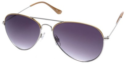 Angle of SW Aviator Style #1414 in Gold Frame, Women's and Men's