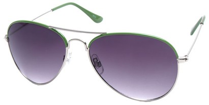 Angle of SW Aviator Style #1414 in Green Frame, Women's and Men's