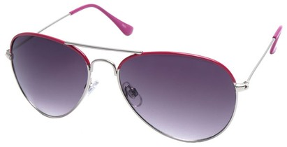Angle of SW Aviator Style #1414 in Pink Frame, Women's and Men's