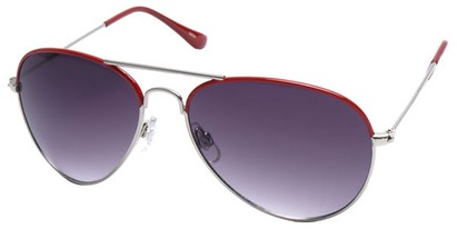 Angle of SW Aviator Style #1414 in Red Frame, Women's and Men's