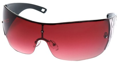 Angle of SW Shield Style #1189 in Black and Pink Frame, Women's and Men's