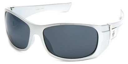 Angle of SW Fashion Style #9702 in Silver Frame, Women's and Men's