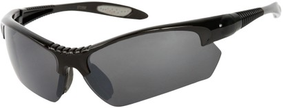 Angle of SW Sport Style #9705 in Black and Grey Frame, Women's and Men's