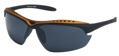 Angle of Asheville #99709 in Black and Gold Frame, Women's and Men's Sport & Wrap-Around Sunglasses