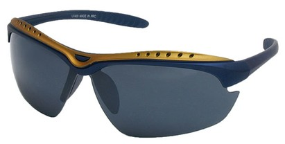 Angle of Asheville #99709 in Blue and Gold Frame, Women's and Men's Sport & Wrap-Around Sunglasses
