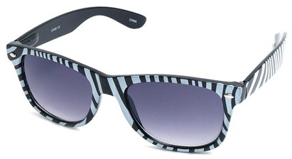 Angle of SW Zebra Style #9750 in Black Frame, Women's and Men's