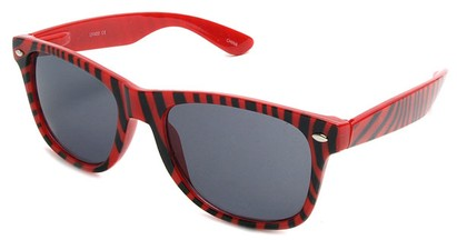 Angle of SW Zebra Style #9750 in Red Frame with Black, Women's and Men's