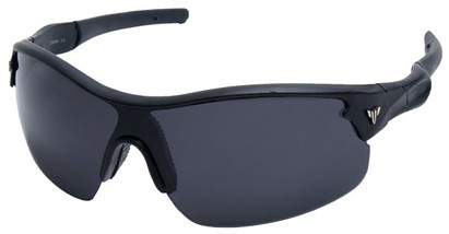 Angle of SW Sport Style #1420 in Matte Black Frame with Smoke Lenses, Women's and Men's