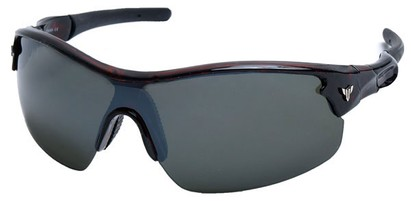 Angle of SW Sport Style #1420 in Tortoise Frame with Grey Lenses, Women's and Men's