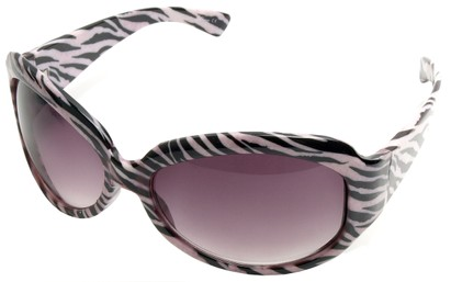 Angle of SW Safari Style #78 in Pink Zebra Frame, Women's and Men's