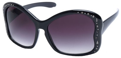 Angle of SW Butterfly Style #1489 in Black Frame, Women's and Men's