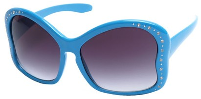 Angle of SW Butterfly Style #1489 in Blue Frame, Women's and Men's