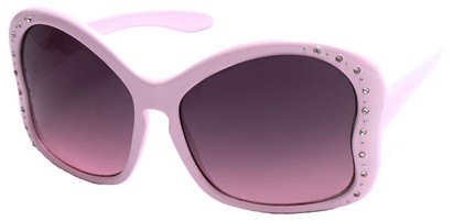 Angle of SW Butterfly Style #1489 in Pink Frame, Women's and Men's