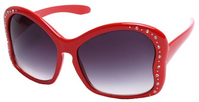 Angle of SW Butterfly Style #1489 in Bright Red Frame, Women's and Men's