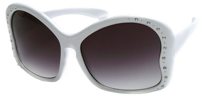 Angle of SW Butterfly Style #1489 in White Frame, Women's and Men's