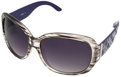 Angle of SW Oversized Style #9818 in Grey and Purple Frame, Women's and Men's