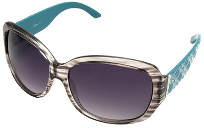 Angle of SW Oversized Style #9818 in Grey and Teal Frame, Women's and Men's