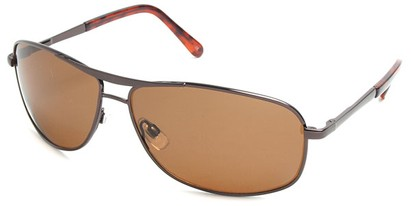 Angle of SW Polarized Aviator Style #5022 in Bronze Brown Frame with Amber Lenses, Women's and Men's