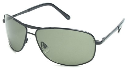 Angle of SW Polarized Aviator Style #5022 in Black Frame with Green Lenses, Women's and Men's