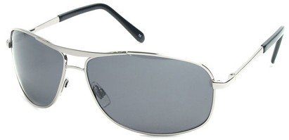 Angle of SW Polarized Aviator Style #5022 in Silver Frame with Smoke Lenses, Women's and Men's