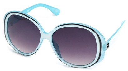 Angle of SW Oversized Style #5086 in Blue and White Frame, Women's and Men's
