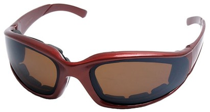 Angle of SW Padded Style #9889 in Red Frame, Women's and Men's