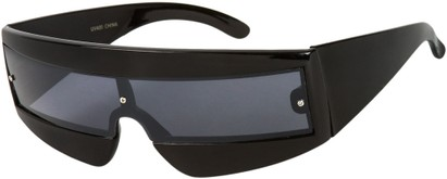 Angle of SW Retro Style #1402 in Black Frame, Women's and Men's