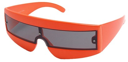 Angle of SW Retro Style #1402 in Orange Frame, Women's and Men's